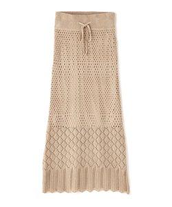 ◆透かし編みニットタイトスカート