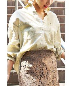 ◆フレンチリネンビッグシャツ