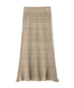 ◆透かし編みニットマーメイドスカート