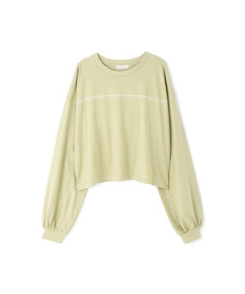 ◆袖口ロゴボックスTシャツ