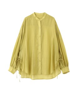 ◆シアーバンドカラーサイドリボンシャツ