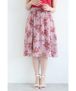 ◆フラワーブーケプリントスカート