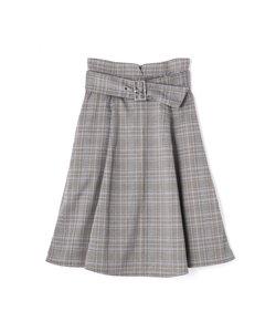 チェックフレアスカート