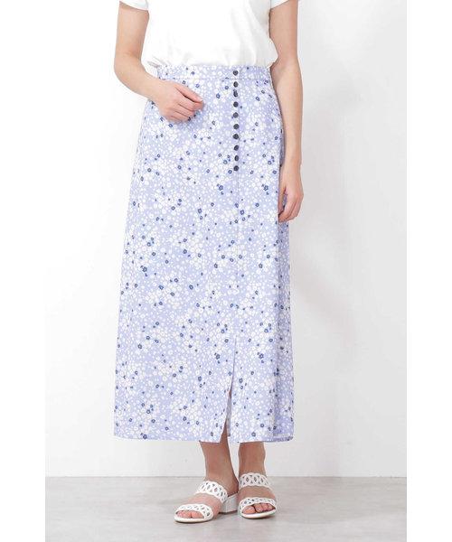 ◆ハートフローラプリントバイアスロングスカート