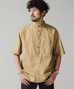 バンドカラークレイジーボタンビッグシャツ/半袖
