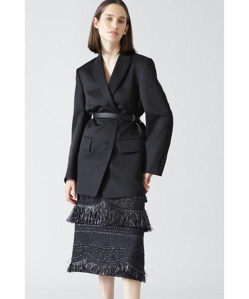 <BLACK LABEL> MALIHA WAVY FRINGES スカート