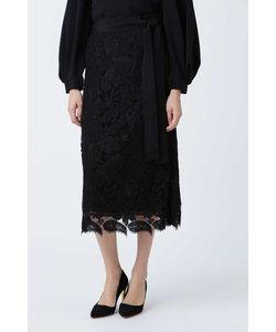 《BLACK LABEL》フラワーコードレーススカート