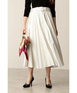 ◆フェイクレザープリーツスカート