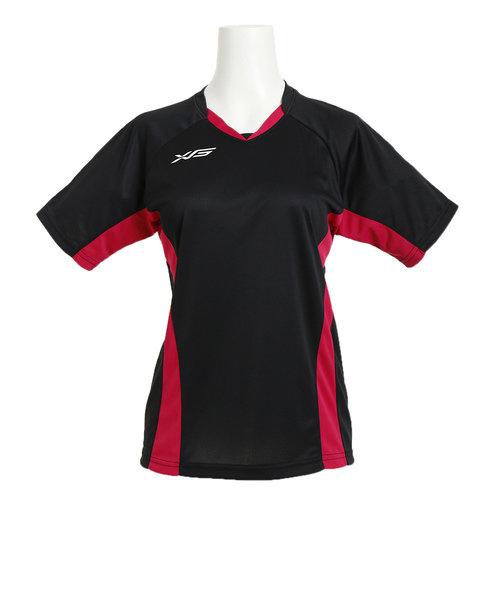 Tシャツ レディース SK 半袖バレーシャツ 761G6CD3414 BKPK