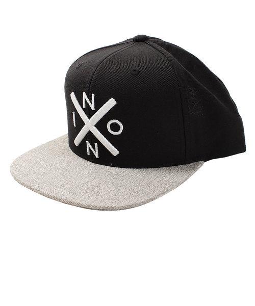ニクソン(NIXON)EXCHANGE SNAPBACK HAT BLACK/HEATHER GRAY NC2066539-00