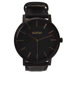 ニクソン(NIXON)ポーターレザーブラックゴールド NA10581031-00XV