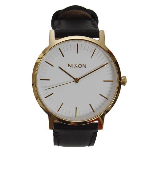 ニクソン(NIXON)ポーターレザーゴールドブラック NA10582523-00XV
