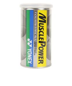 硬式用テニスボール マッスルパワートーナメント 2個入り缶 TMP80P-004