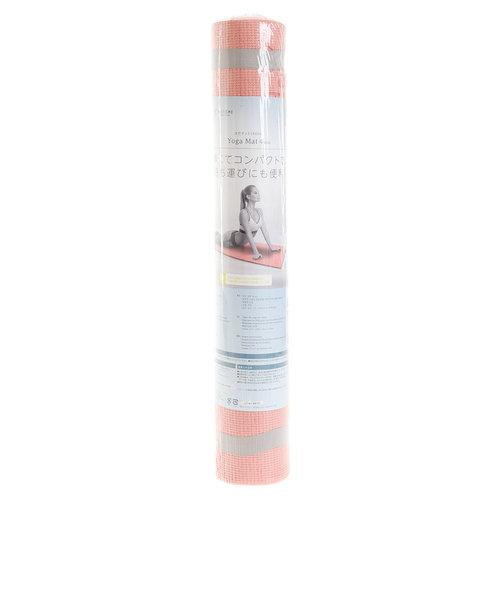 ウィッテム(HUITIEME)ヨガマット 4mm エコ素材 高グリップ バンド付き HU18CM8414287 PNK