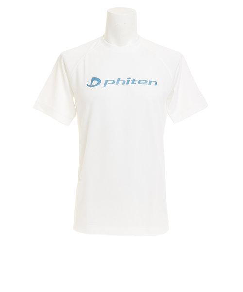 【ファイテン限定】 Tシャツ メンズ 半袖 Tシャツ WH/ラメSAX 3117JG29810