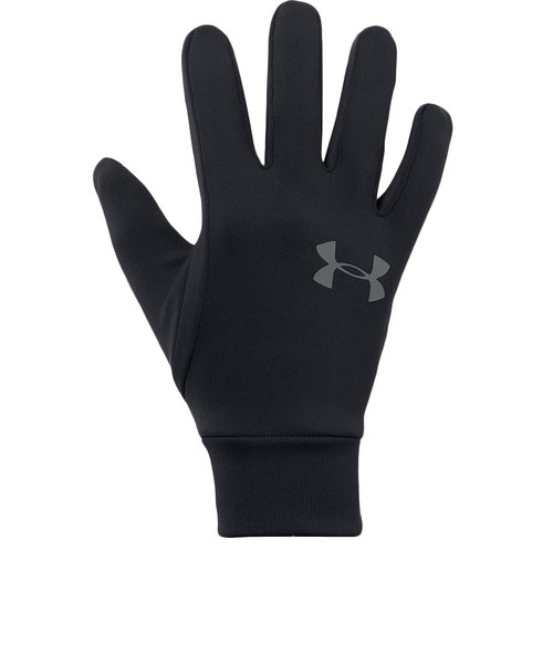 アンダーアーマー(UNDER ARMOUR)コールドギア 手袋 アーマーライナー2.0 1318546 BLK/GPH タッチパネル対応 防寒用