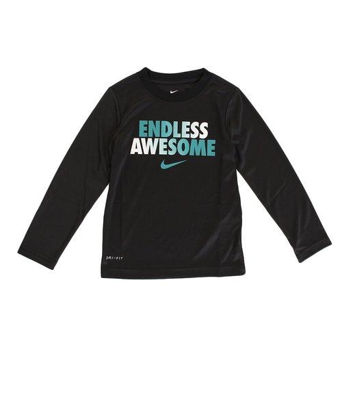【オンライン限定特価】ボーイズ AWESONE DF 長袖プリントTシャツ 86D827-023
