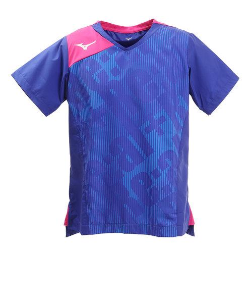 ミズノ(MIZUNO)ブレーカーシャツ 半袖 V2ME900125 【バレーボールウェア ピステシャツ トップス】