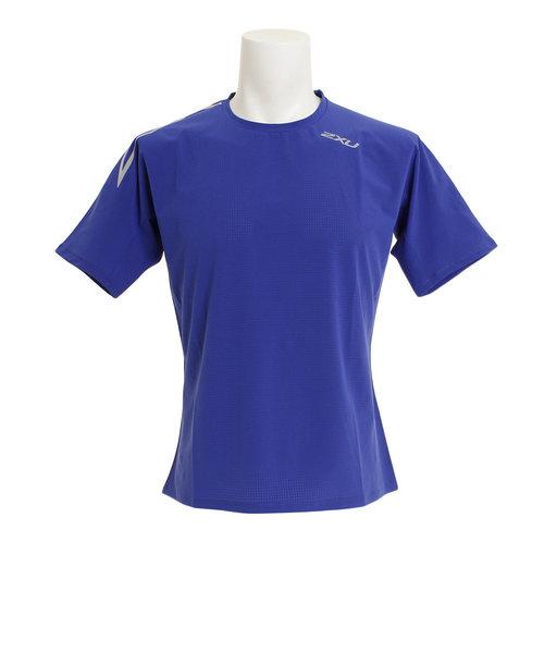 ツー・タイムズ・ユー(2XU)ストレッチエアフロー 半袖Tシャツ MR6010A-BLU/SIL