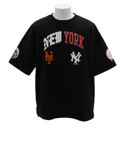 Tシャツ メンズ 半袖 MLBプリントビッグ MM01-ML-9S35-BK 【野球 スポーツ ウェア 一般】