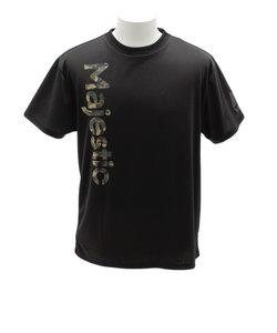 Tシャツ メンズ 半袖 カモプリントPEメッシュ CM01-MC-9S02-BK 【野球 スポーツ ウェア 一般】