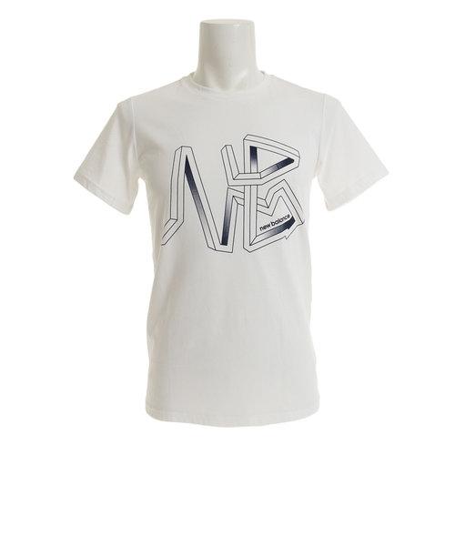 ニューバランス(new balance)グラフィックヘザーテックTシャツ AMT81083WT オンライン価格
