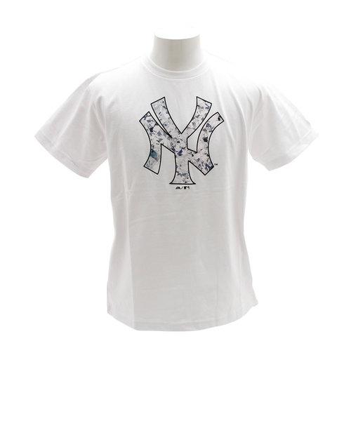 Tシャツ メンズ 半袖 ダイアモンドプリント MM01-NY-9S18-WH 【野球 スポーツ ウェア 一般】
