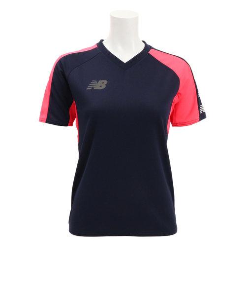 ニューバランス(new balance)プラクティスシャツ JJTF9352NV 【サッカー スポーツ ウェア ジュニア プラクティスシャツ Tシャツ 半袖】