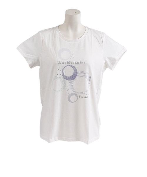 ウィッテム(HUITIEME)Tシャツ レディース 半袖 T/C クルーネック HU19S03TC864912WHT オンライン価格