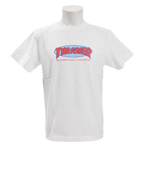 スラッシャー(THRASHER)Tシャツ メンズ 半袖 Oval MAG TH91135 オンライン価格