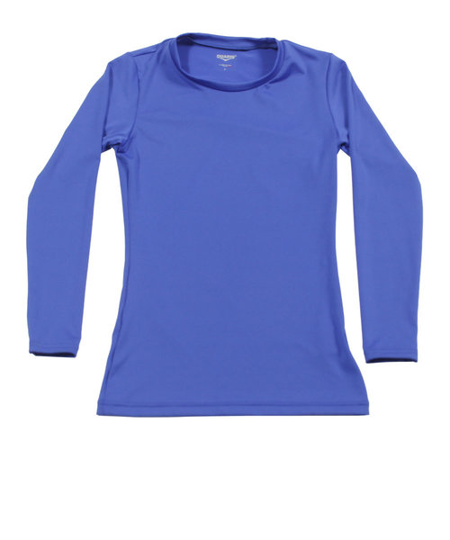 デュアリグ(DUARIG)ストレッチ丸首インナーシャツ 741D8ES065 BLU 【サッカー スポーツ ウェア メンズ インナー アンダー シャツ 長袖】