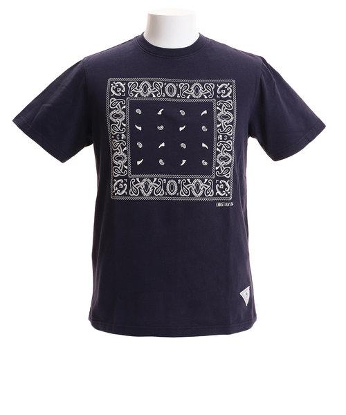 CHRISTIAN 24(CHRISTIAN 24)Tシャツ メンズ バンダナプリント 半袖 CH2MS9013 NVY オンライン価格