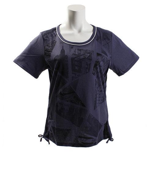 ダンスキン(DANSKIN)Tシャツ レディース 半袖 ルーズ DB78222 EB オンライン価格