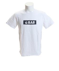 エスエーエス(SAS)プリントTシャツ ボックスロゴ SAS1744405-5-OWHT