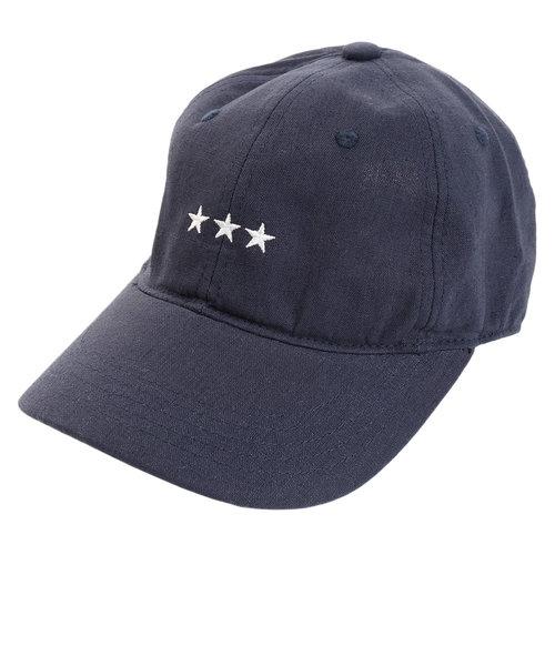 リネン刺繍キャップ 3Star 897PA9ST1741 NVY