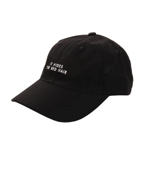 リネン刺繍キャップ BED HAIR 897PA9ST1748 BLK