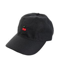 リネン刺繍キャップ CHERRY 897PA9ST1758 BLK
