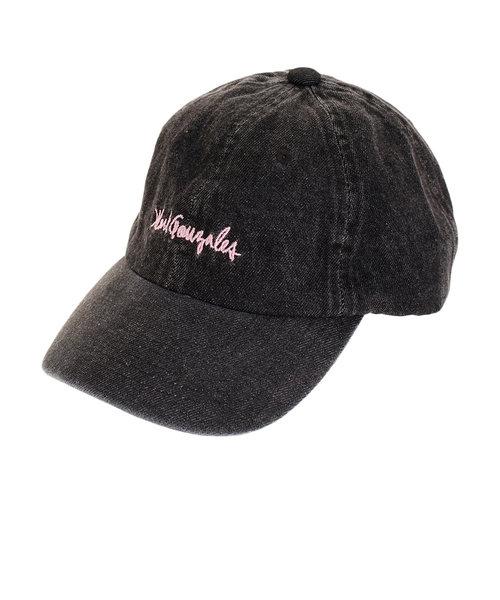 マークゴンザレス(MARK GONZALES)デニムサインロゴ 刺繍 キャップ ピンク 2G9-4387 C02 BLK