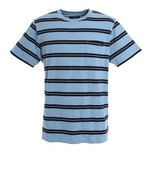 クイックシルバー(Quiksilver)Tシャツ メンズ 半袖 PELHAM STRIPE 19SUQST192051LBL オンライン価格