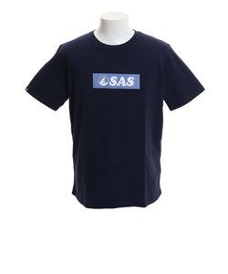 エスエーエス(SAS)プリントTシャツ ボックスロゴ SAS1744405-4-NVY 半袖 オンライン価格
