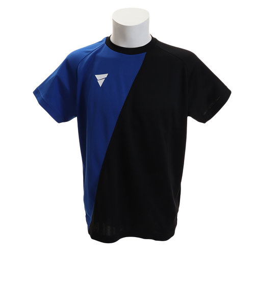 ヴィクタス(VICTAS)Tシャツ メンズ 半袖 プラクティス V-TS908 033456 BLUE 卓球ウェア