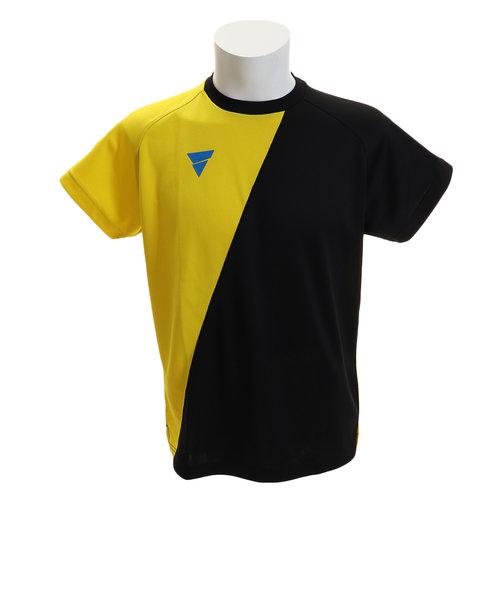 ヴィクタス(VICTAS)Tシャツ メンズ 半袖 プラクティス V-TS908 033456 YEL 卓球ウェア