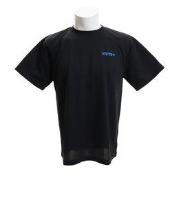ヴィクタス(VICTAS)Tシャツ メンズ 半袖 V-TS063 プラクティス 033455 BLK 卓球ウェア