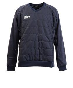 スフィーダ(SFIDA)サッカー ウェア メンズ ハイブリッド中綿ピステシャツ XA-19A06 NVY フットサル 防寒