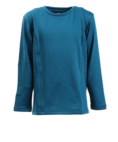 ピージー(PG)ジュニア GRID WARM GEAR クルーネック フリースシャツ 862PG9JY8173 BLU オンライン価格