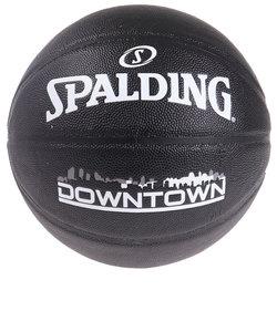 スポルディング(SPALDING)バスケットボール 7号球 (一般 大学 高校 中学校) 男子用 ダウンタウン PU コンポジット ブラック 76-586J …