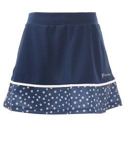 ウィッテム(HUITIEME)テニス 花柄プリンテッドスカート HU20S13LS733008NVYNVY 【吸汗速乾/UVカット】
