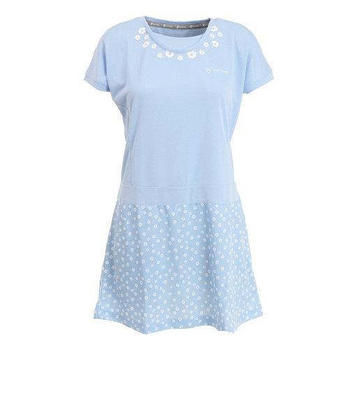 ウィッテム(HUITIEME)テニス プリンテッド ドレス HU20S14LS733009LBLU 【吸汗速乾/UVカット】