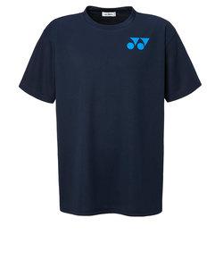 ヨネックス(YONEX)テニスウェア Tシャツ メンズ RWX20001-019 半袖 吸汗速乾 ワンポイントロゴ ネイビー