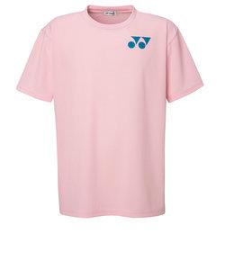 ヨネックス(YONEX)テニスウェア Tシャツ メンズ RWX20001-605 半袖 吸汗速乾 ワンポイントロゴ ピンク
